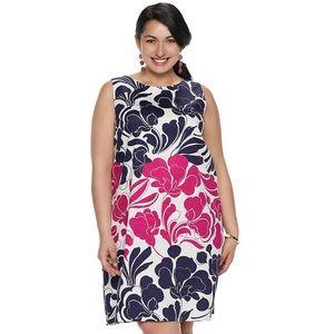 London Times plus size floral shift dress size 16